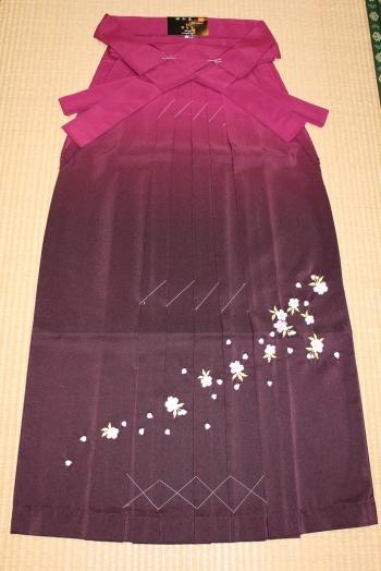 卒業式袴 刺繍1